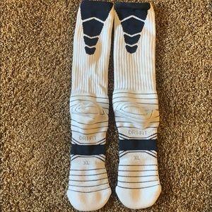 Nike Underwear & Socks - White and Navy Nike Elite Dry-Fit Socks